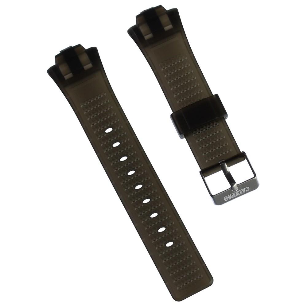 Calypso Herren Uhrenarmband 25mm PU-Band schwarz für Calypso K5601 UKA5601/S