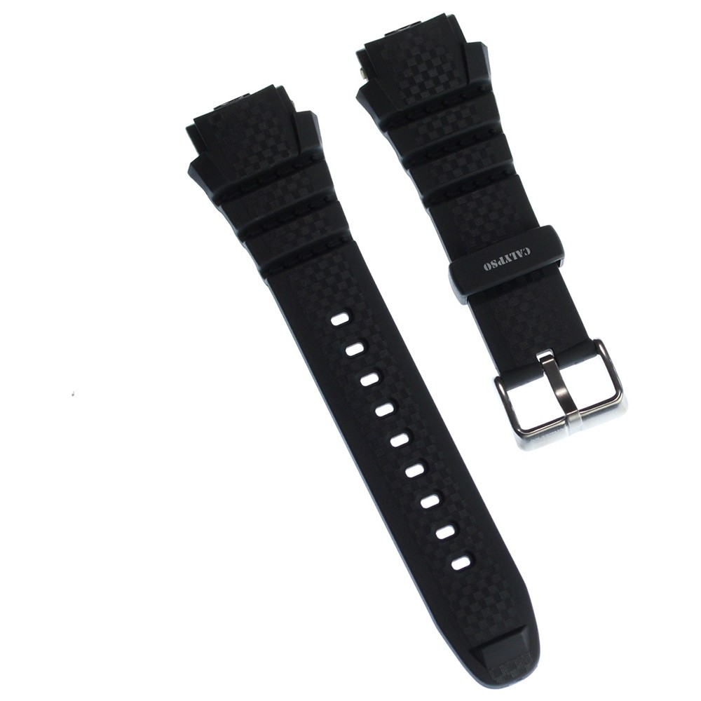 Calypso Herren Uhrenarmband 19mm PU-Band schwarz für Calypso K5626 UKA5626/S