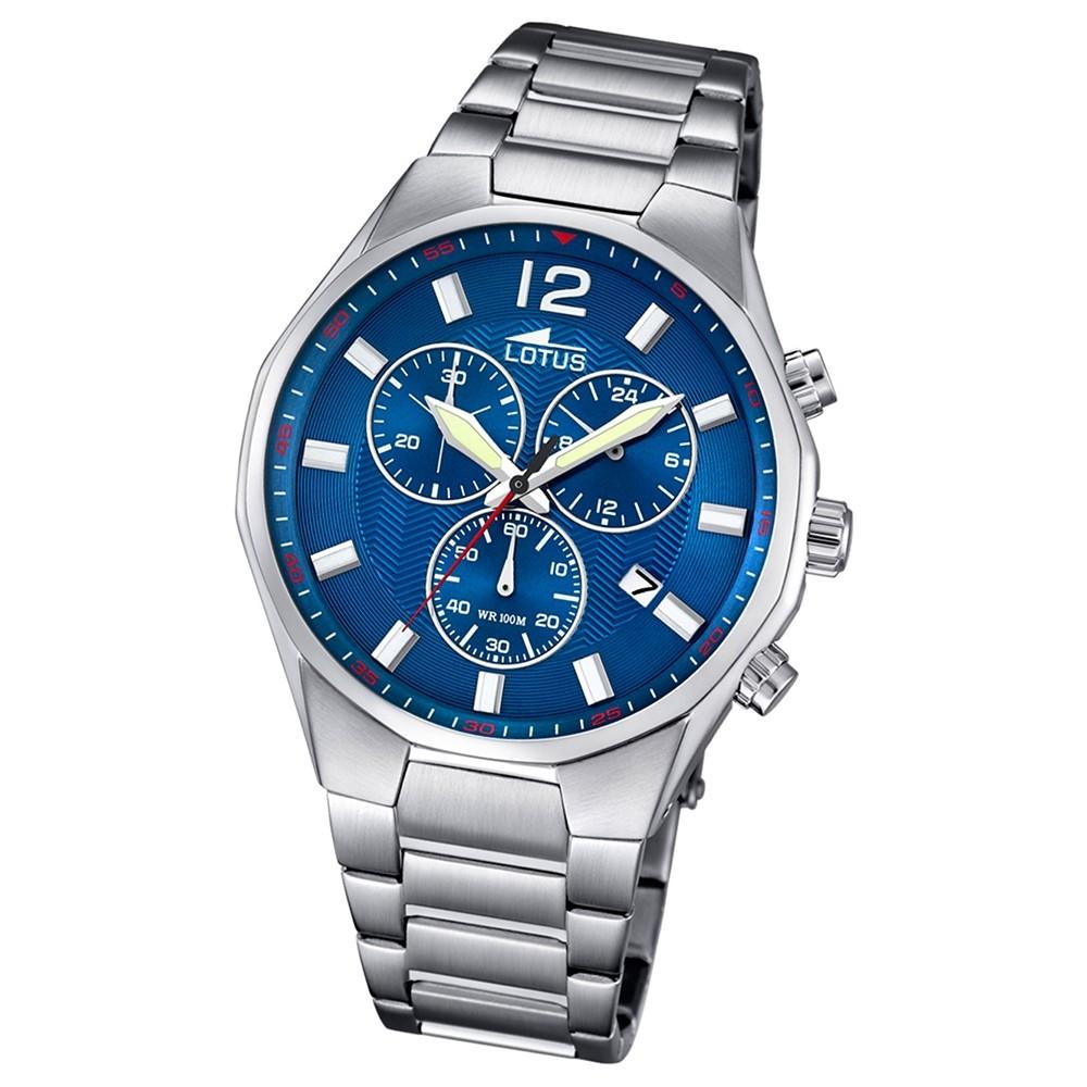 LOTUS Herren-Armbanduhr Chronograph Quarz Edelstahl silber UL10125/3