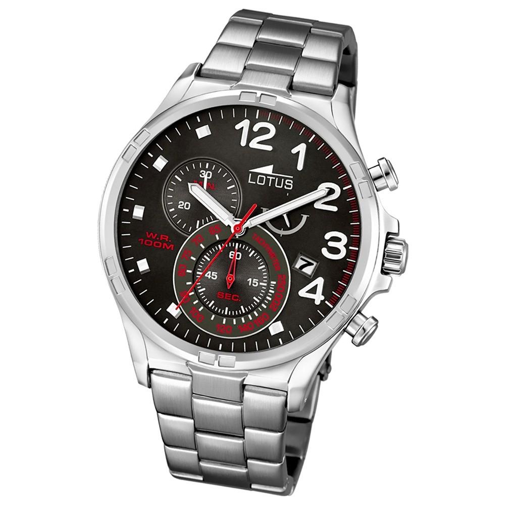 LOTUS Herren-Uhr - Chronograph - Analog - Quarz - Edelstahl - UL10126/2