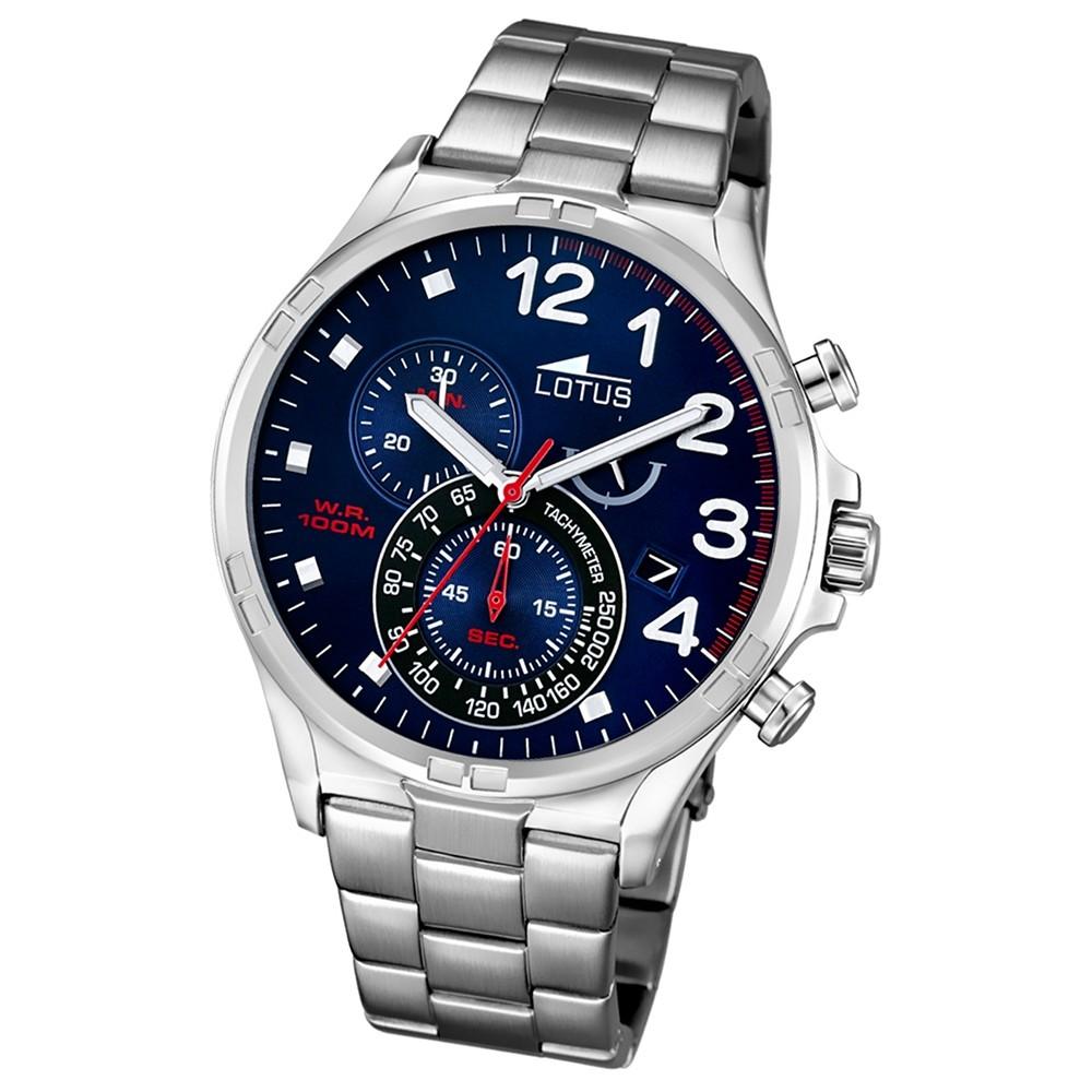 LOTUS Herren-Armbanduhr Chronograph Quarz Edelstahl silber UL10126/3