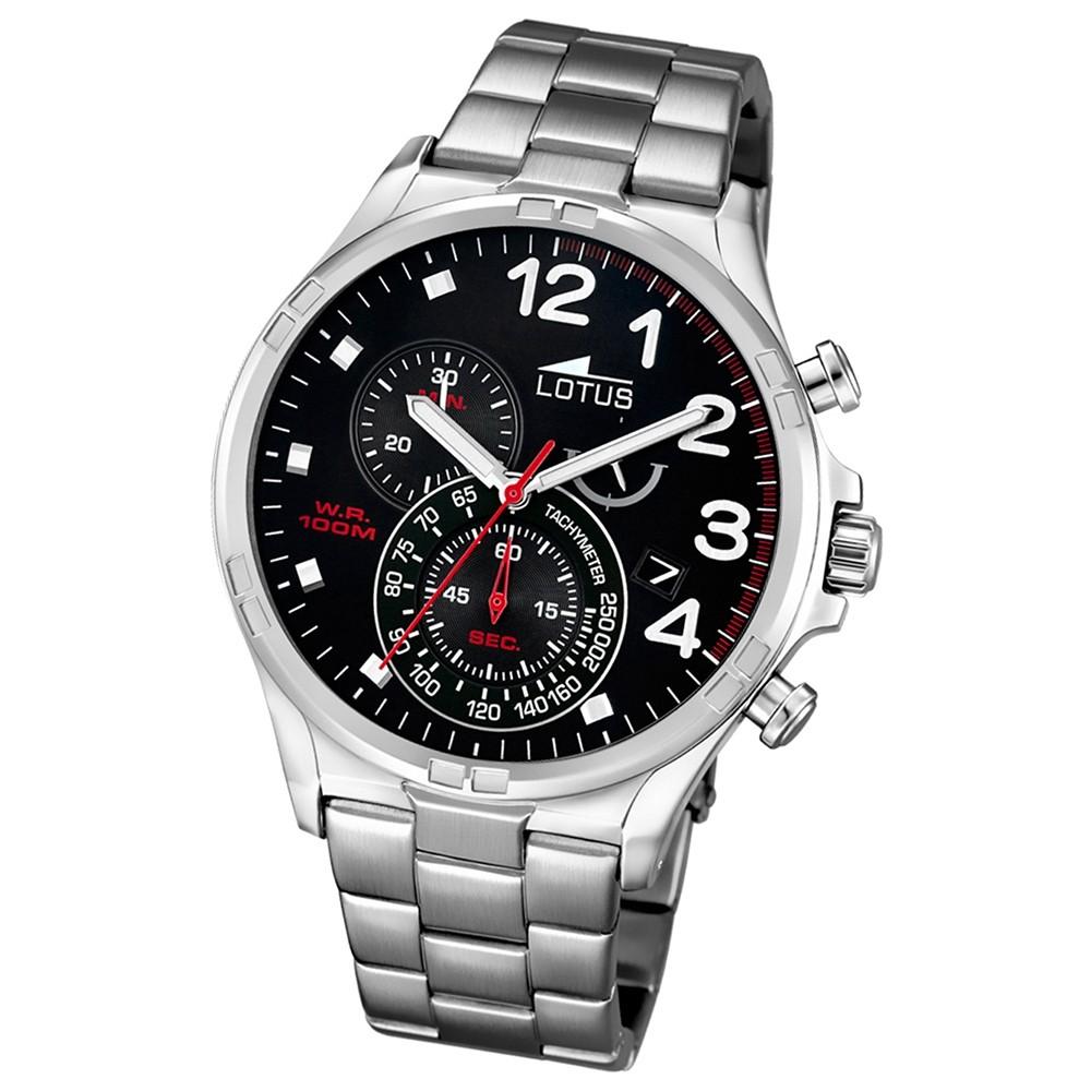 LOTUS Herren-Uhr - Chronograph - Analog - Quarz - Edelstahl - UL10126/4