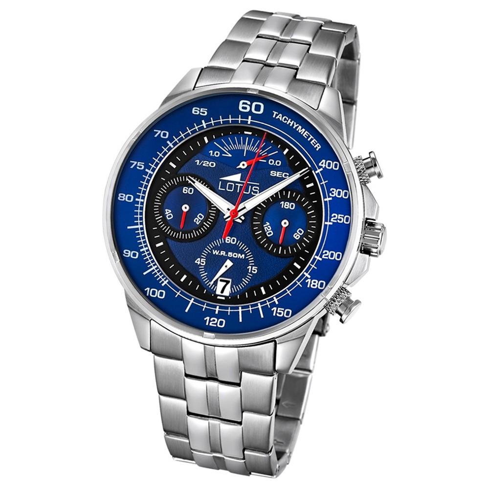 LOTUS Herren-Armbanduhr Khrono Chronograph Quarz-Uhr Edelstahl silber UL10129/3