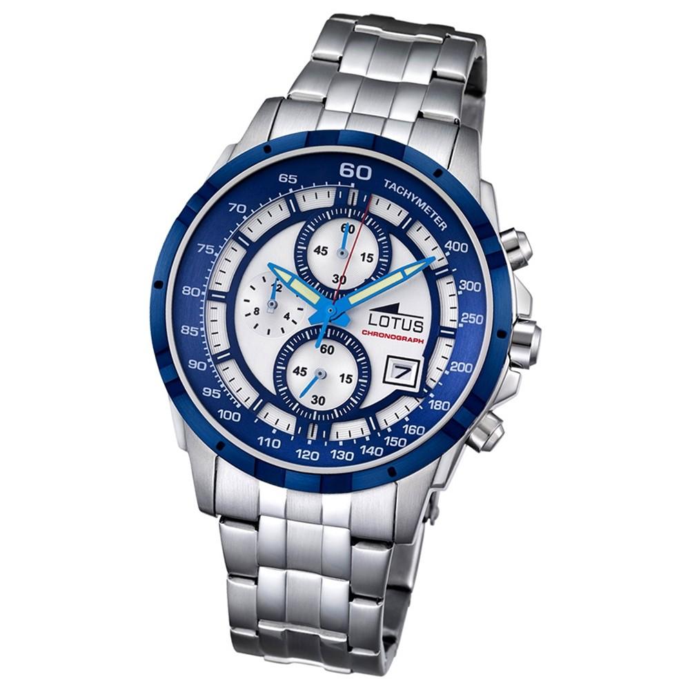 LOTUS Herren-Armbanduhr Khrono Chronograph Quarz-Uhr Edelstahl silber UL10130/1