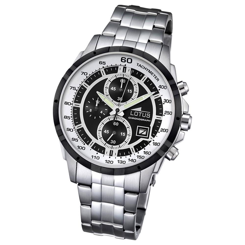 LOTUS Herren-Armbanduhr Khrono Chronograph Quarz-Uhr Edelstahl silber UL10130/4