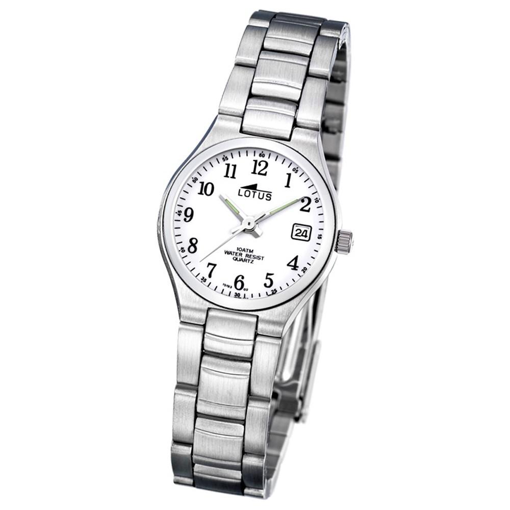 LOTUS Damen-Armbanduhr Stahlband klassisch Analog Quarz Edelstahl UL15193/2