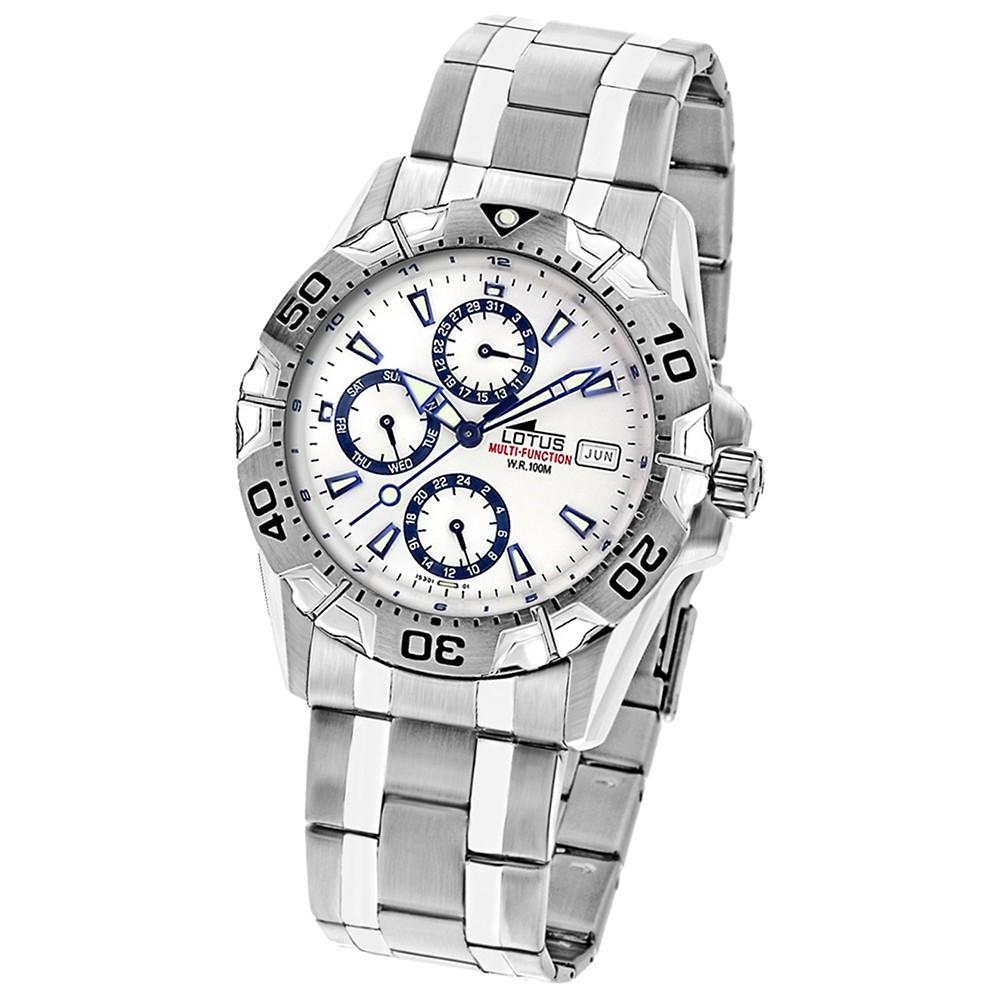LOTUS Herrenuhr Multifunktionsuhr weiß Uhren Kollektion UL15301/1