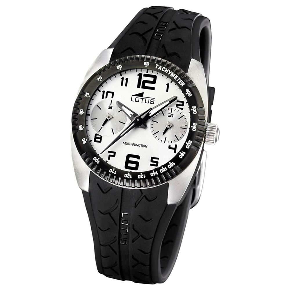 LOTUS Herren-Armbanduhr Sport analog Quarz Kautschuk UL15567/1