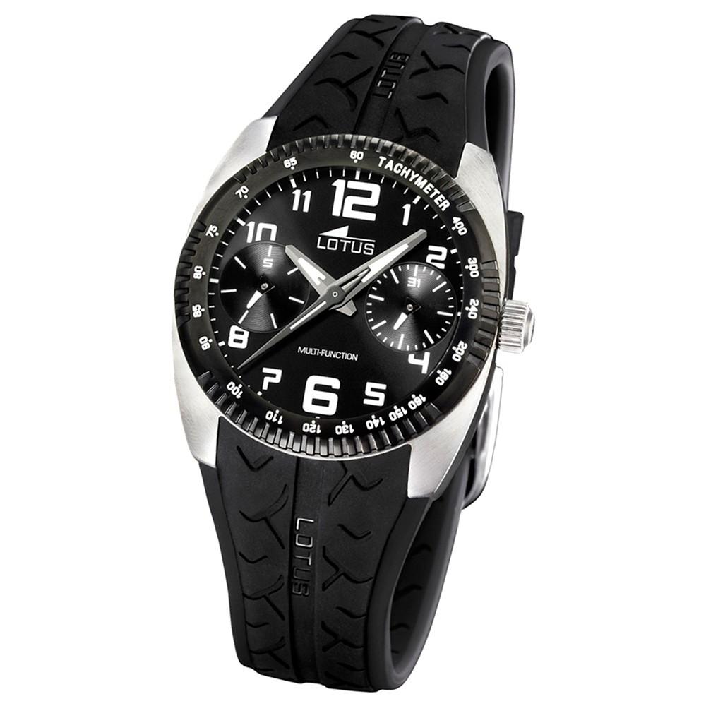 LOTUS Herren-Armbanduhr Sport analog Quarz Kautschuk UL15567/3