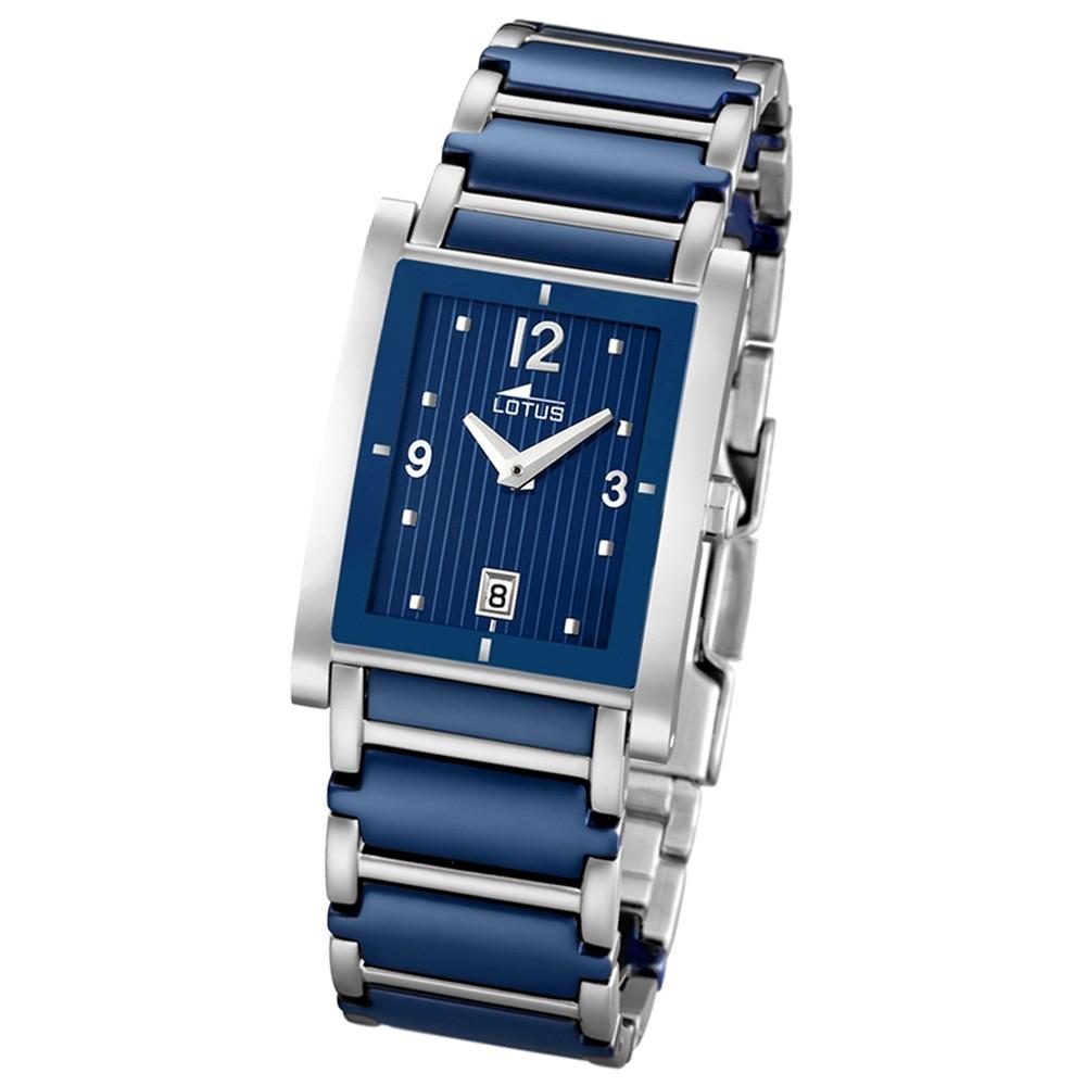 LOTUS Damen-Armbanduhr Ceramic analog Quarz Edelstahl, Keramik UL15585/2