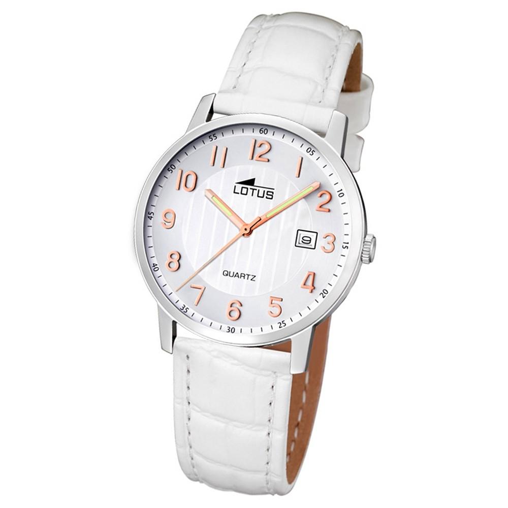 LOTUS Damen-Armbanduhr Analog Quarz Leder weiß UL15621/2