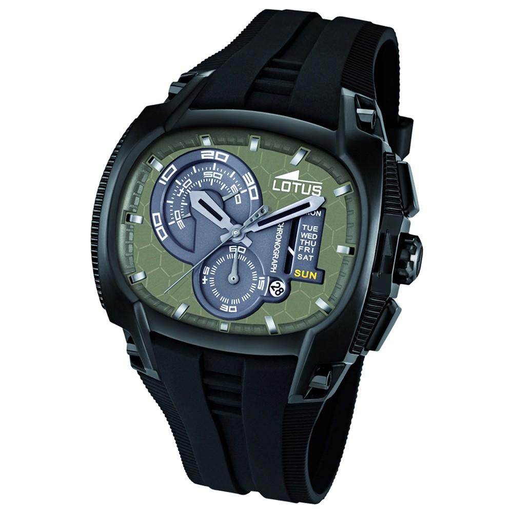 LOTUS Herrenuhr grün Chronograph Tornado Uhren Kollektion UL15755/1