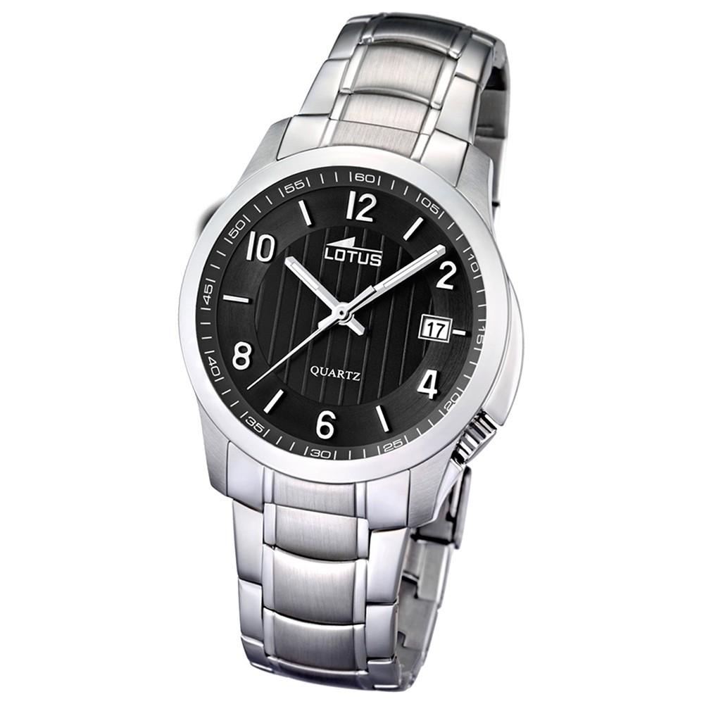 LOTUS Damen/Herrenuhr klassisch Analog Quarz Uhr Edelstahl silber UL15760/4