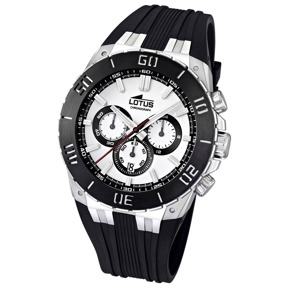 LOTUS Herren-Armbanduhr LOTUS R Chronograph Quarz Kautschuk UL15801/1