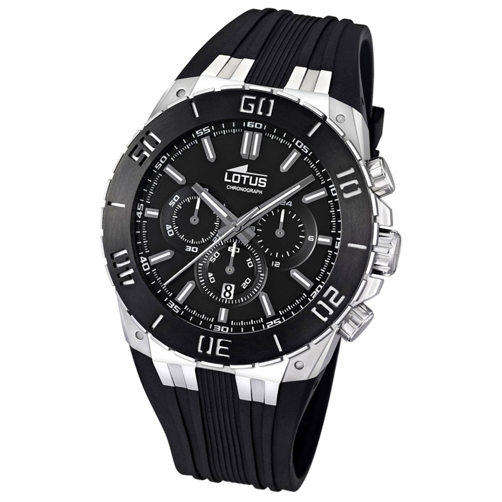 LOTUS Herren-Armbanduhr LOTUS R Chronograph Quarz Kautschuk UL15801/2