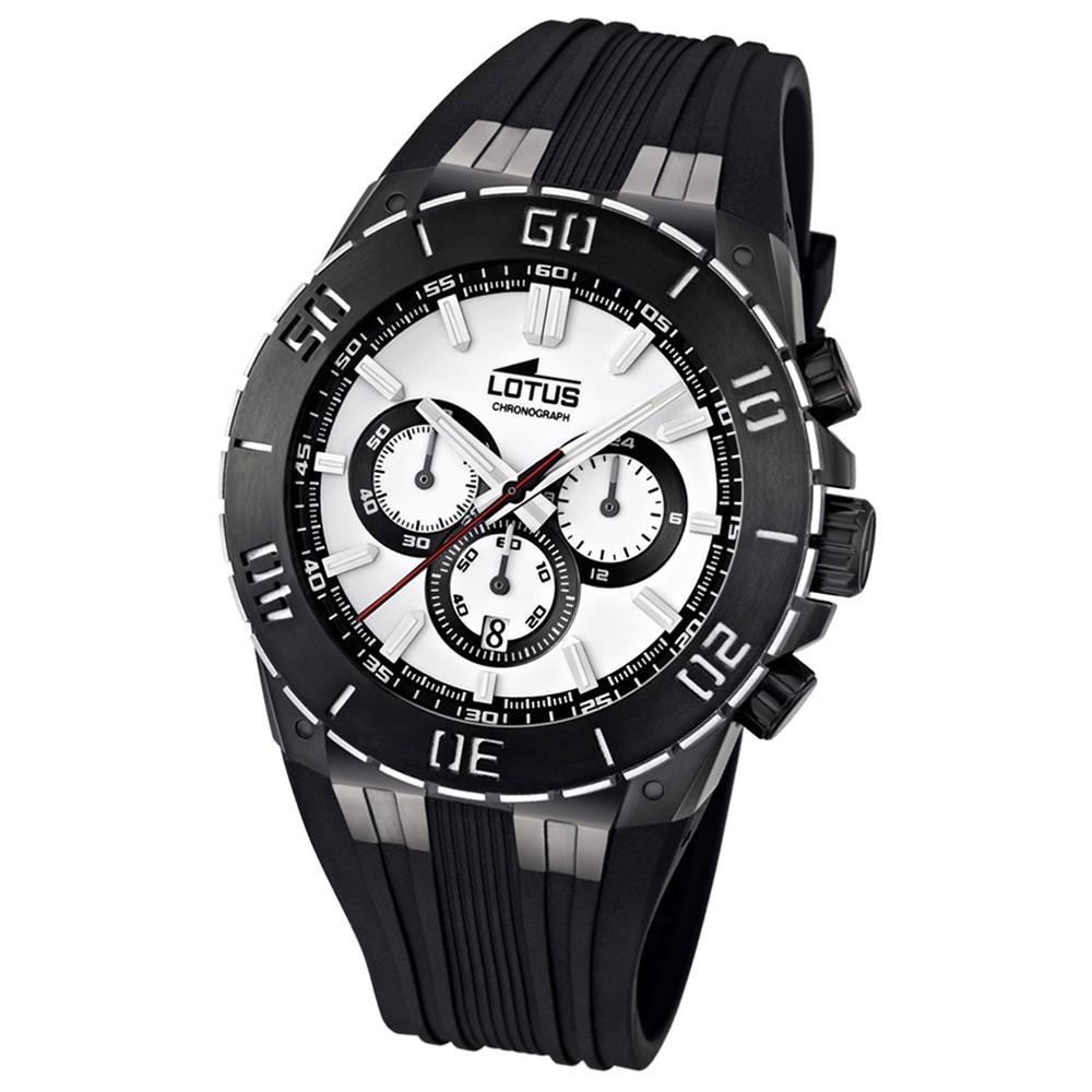 LOTUS Herren-Armbanduhr LOTUS R Chronograph Quarz Kautschuk UL15802/1