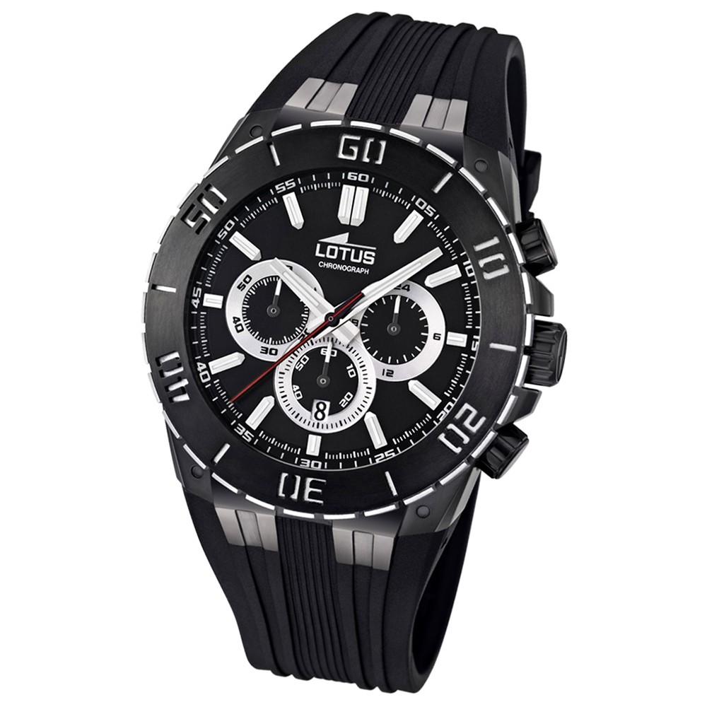 LOTUS Herren-Armbanduhr LOTUS R Chronograph Quarz Kautschuk UL15802/3