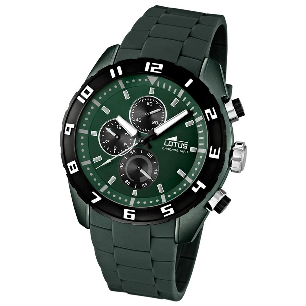 LOTUS Herrenuhr Chronograph grün Sport Uhren Kollektion UL15842/4