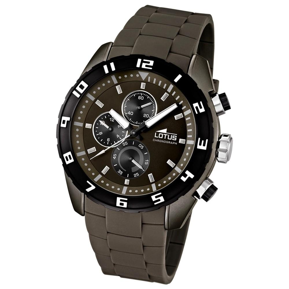 LOTUS Herrenuhr Chronograph braun Sport Uhren Kollektion UL15842/5
