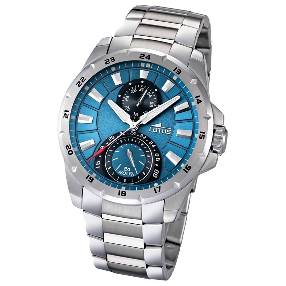 LOTUS Herrenuhr Multifunktion blau Klassik Uhren Kollektion UL15843/2
