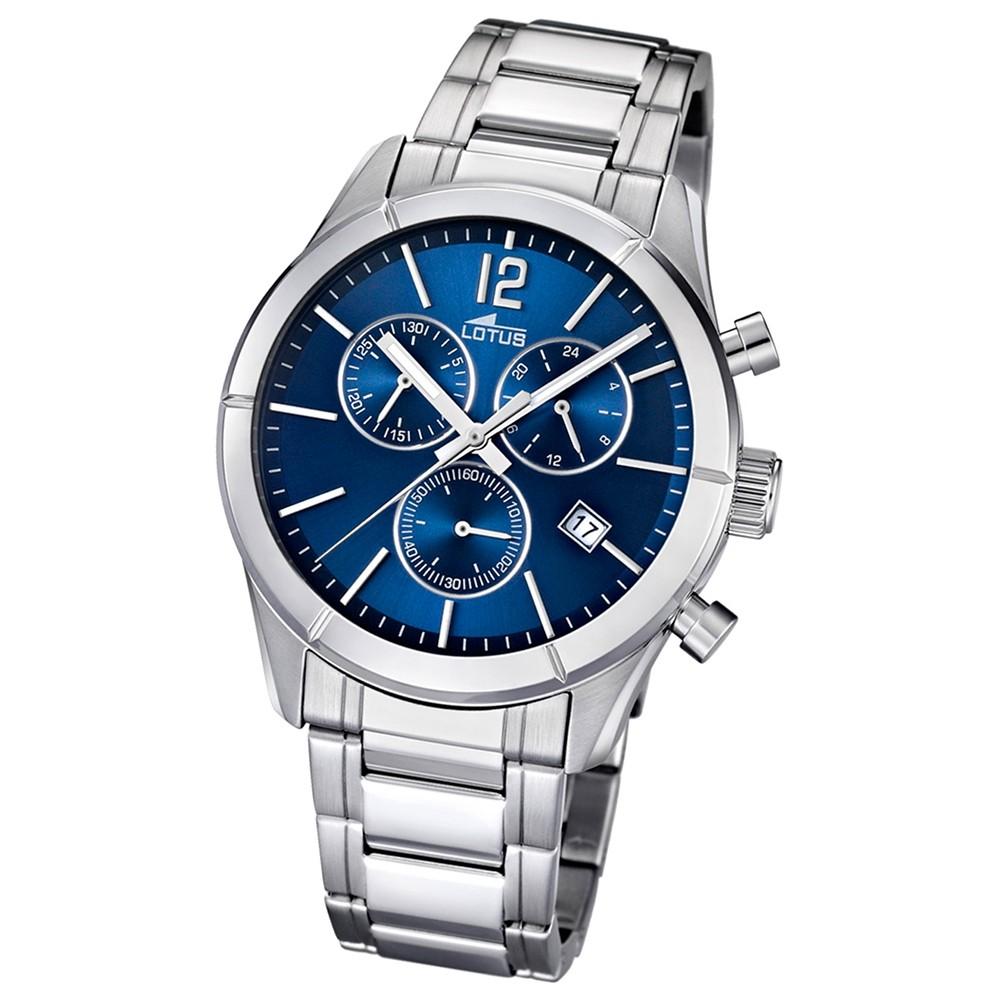 LOTUS Herrenuhr Chronograph blau Klassik Uhren Kollektion UL15849/3