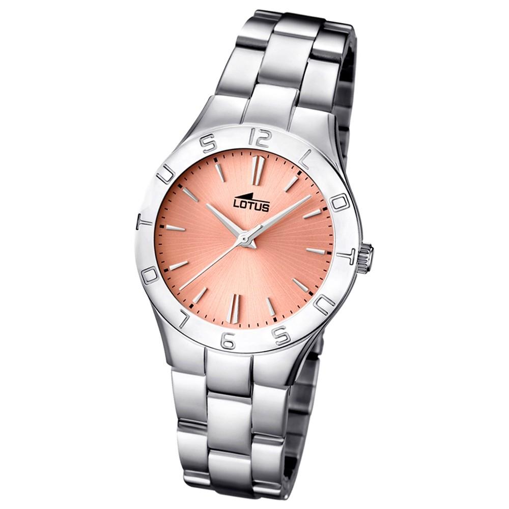 LOTUS Multifunktionsuhr Damen rosegold, Edelstahlband Trendy Uhren UL15895/2