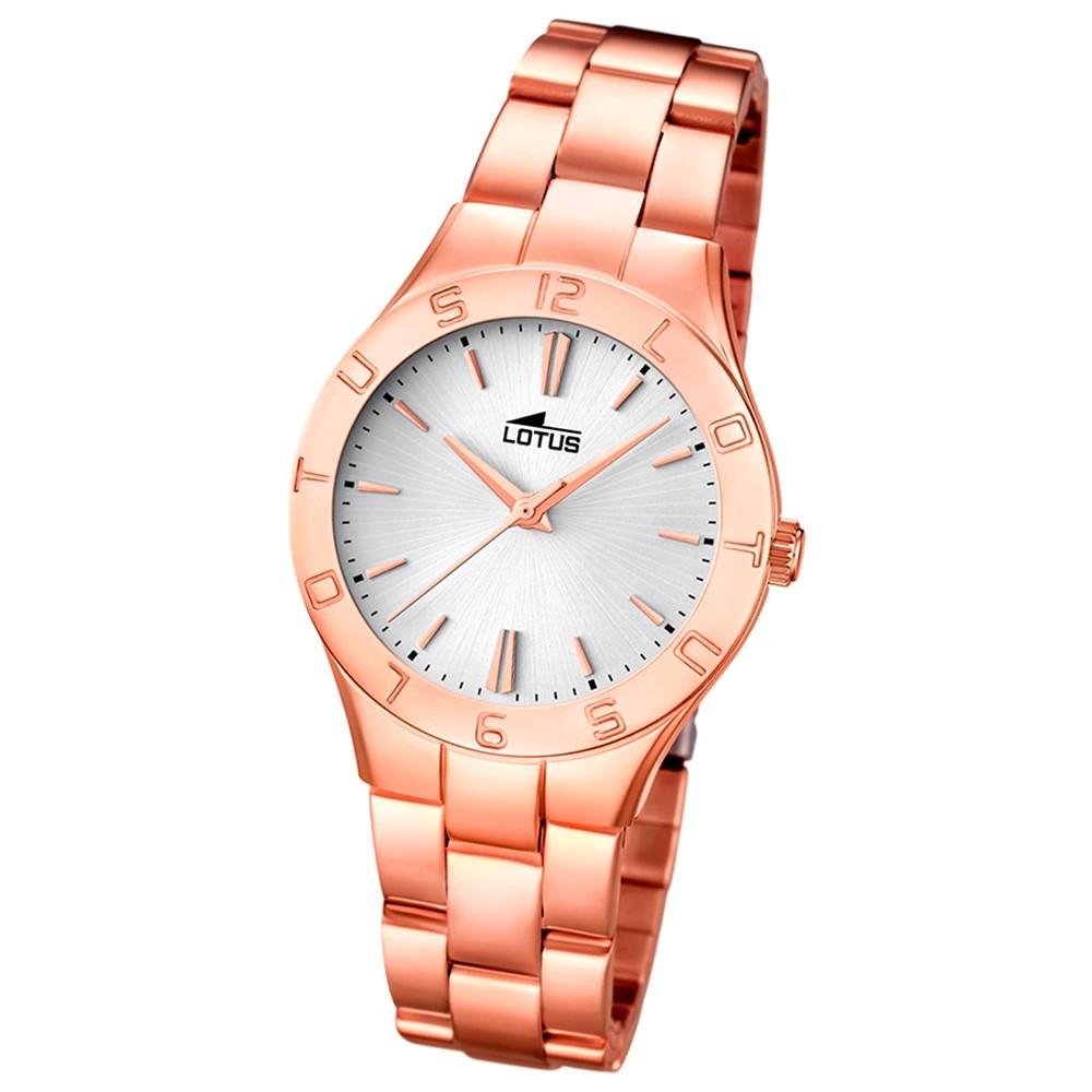 LOTUS Damen-Armbanduhr Trendy analog Quarz Edelstahl UL15898/1