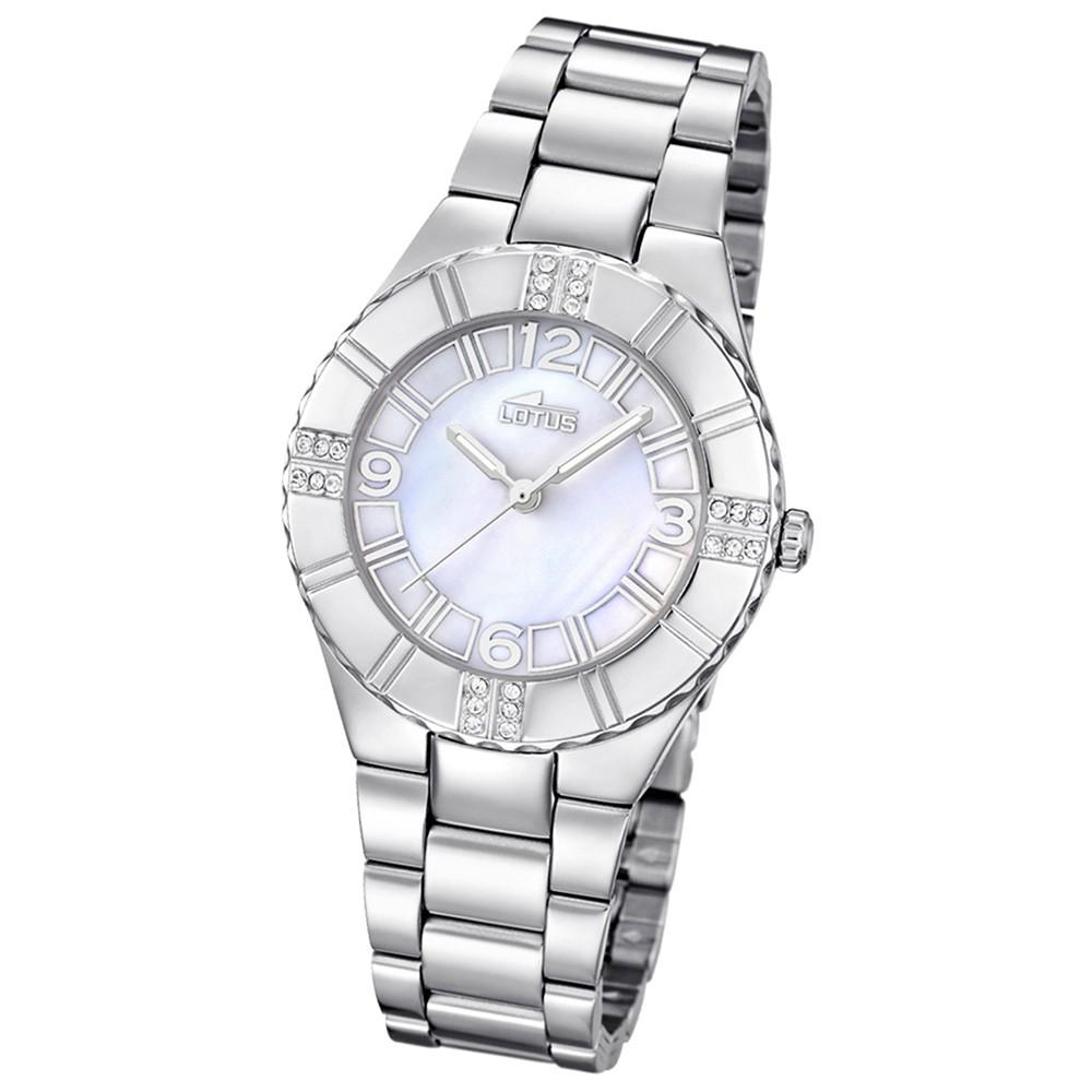 LOTUS Damen-Armbanduhr Trendy analog Quarz Edelstahl UL15905/1