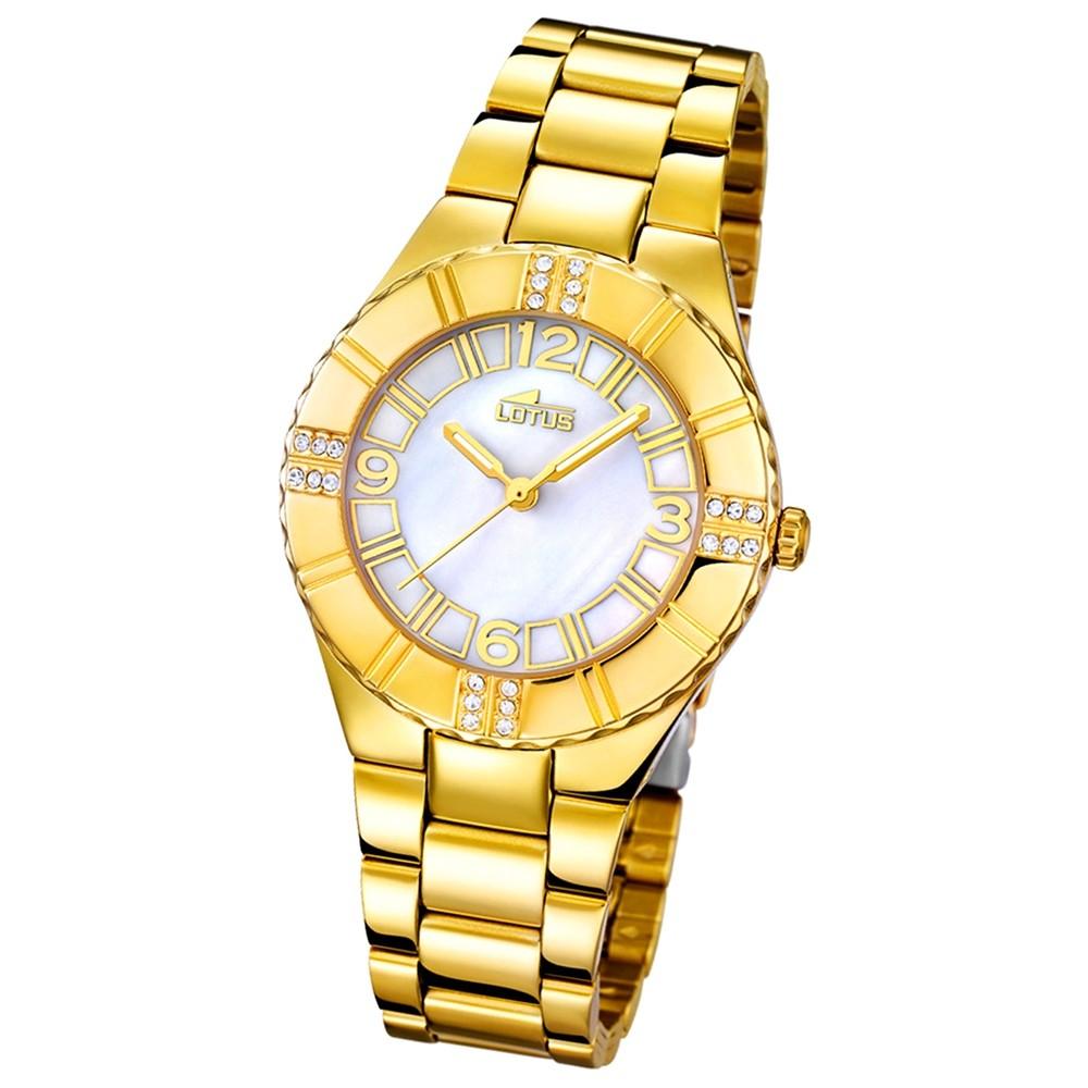 LOTUS Damen-Armbanduhr Trendy analog Quarz Edelstahl UL15907/1