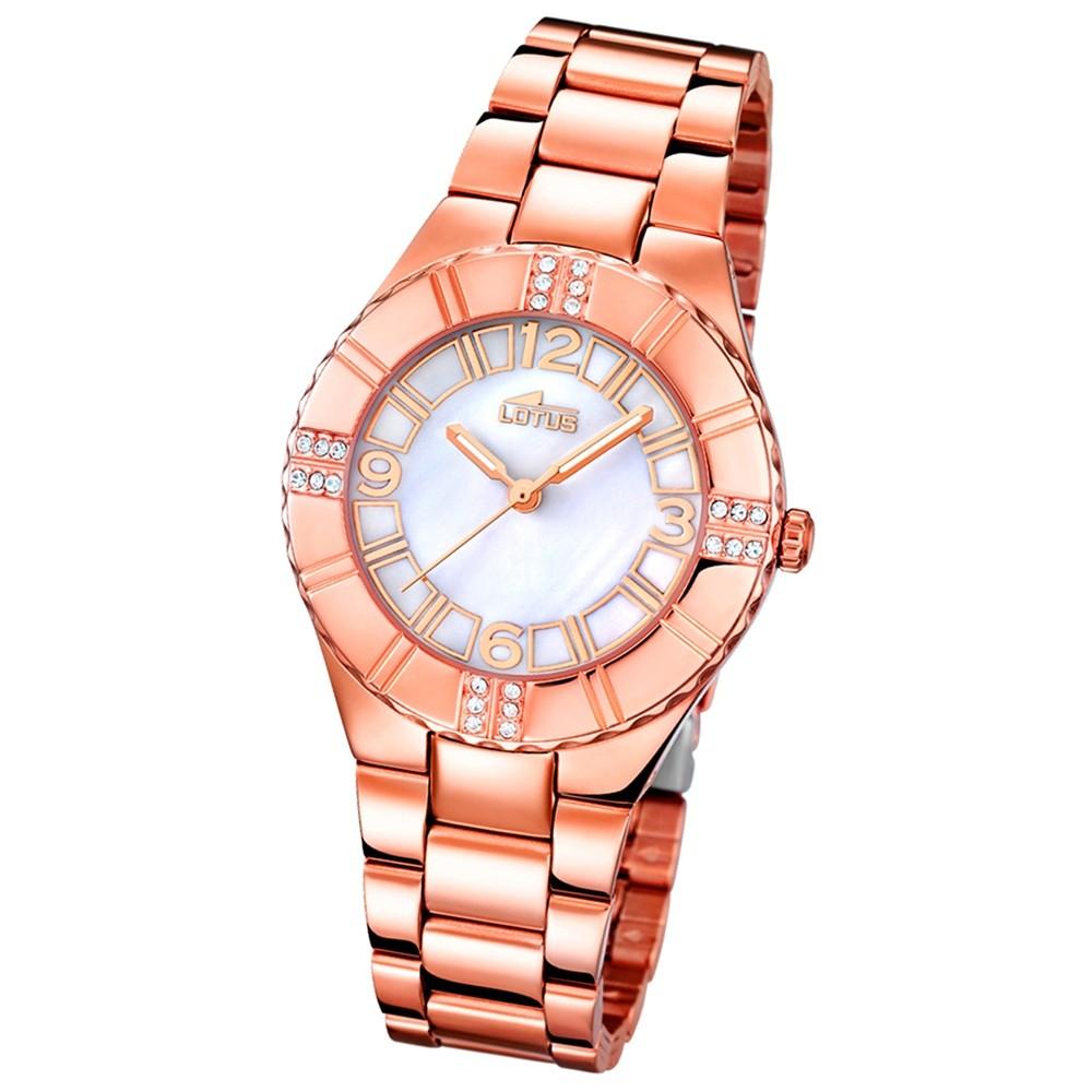 LOTUS Damen-Armbanduhr Trendy analog Quarz Edelstahl UL15908/1