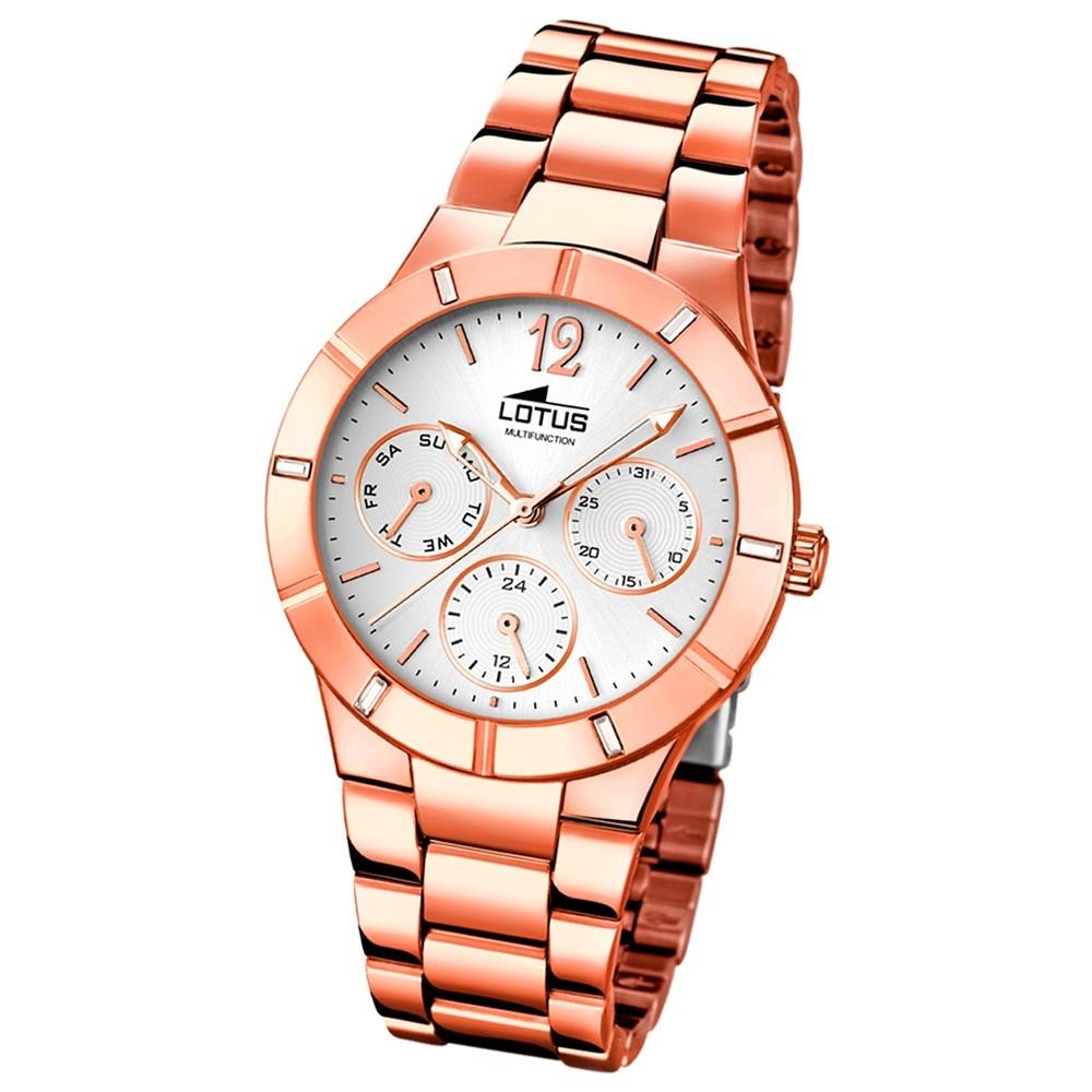 LOTUS Damen-Armbanduhr Trendy analog Quarz Edelstahl UL15915/1