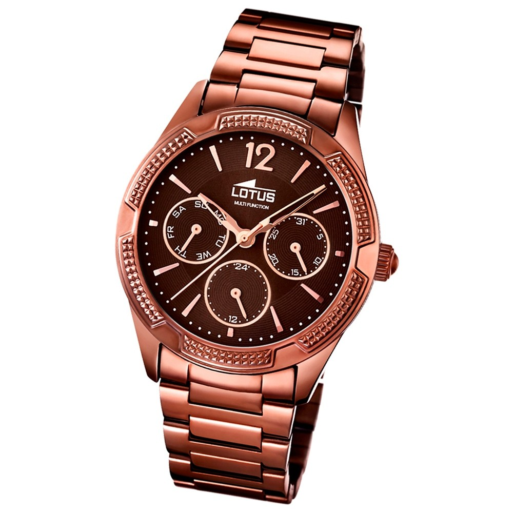 LOTUS Multifunktion Damenuhr bronze Trendy Uhren Kollektion UL15925/1