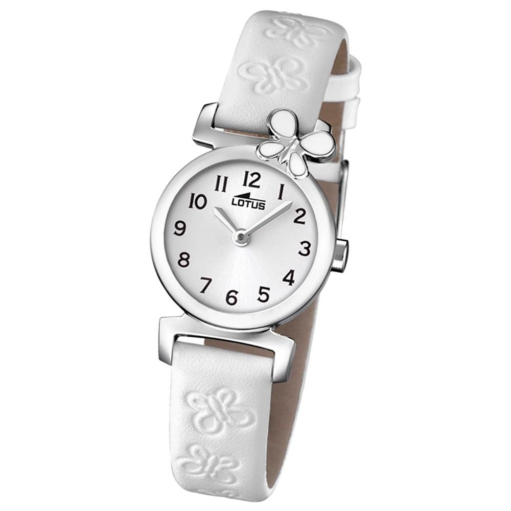 LOTUS Jugenduhr Comuniones Analog Quarz Uhr Leder Armband weiß UL15948/1