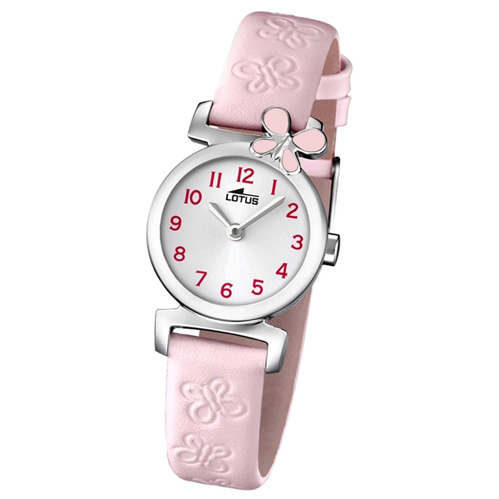 LOTUS Jugenduhr Comuniones Analog Quarz Uhr Leder Armband rosa UL15948/2