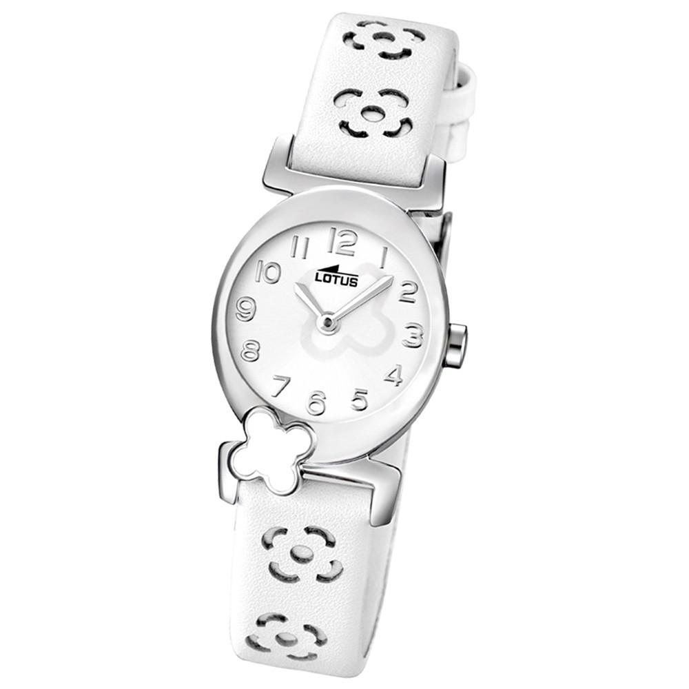 LOTUS Jugenduhr Comuniones Analog Quarz Uhr Leder Armband weiß UL15949/1