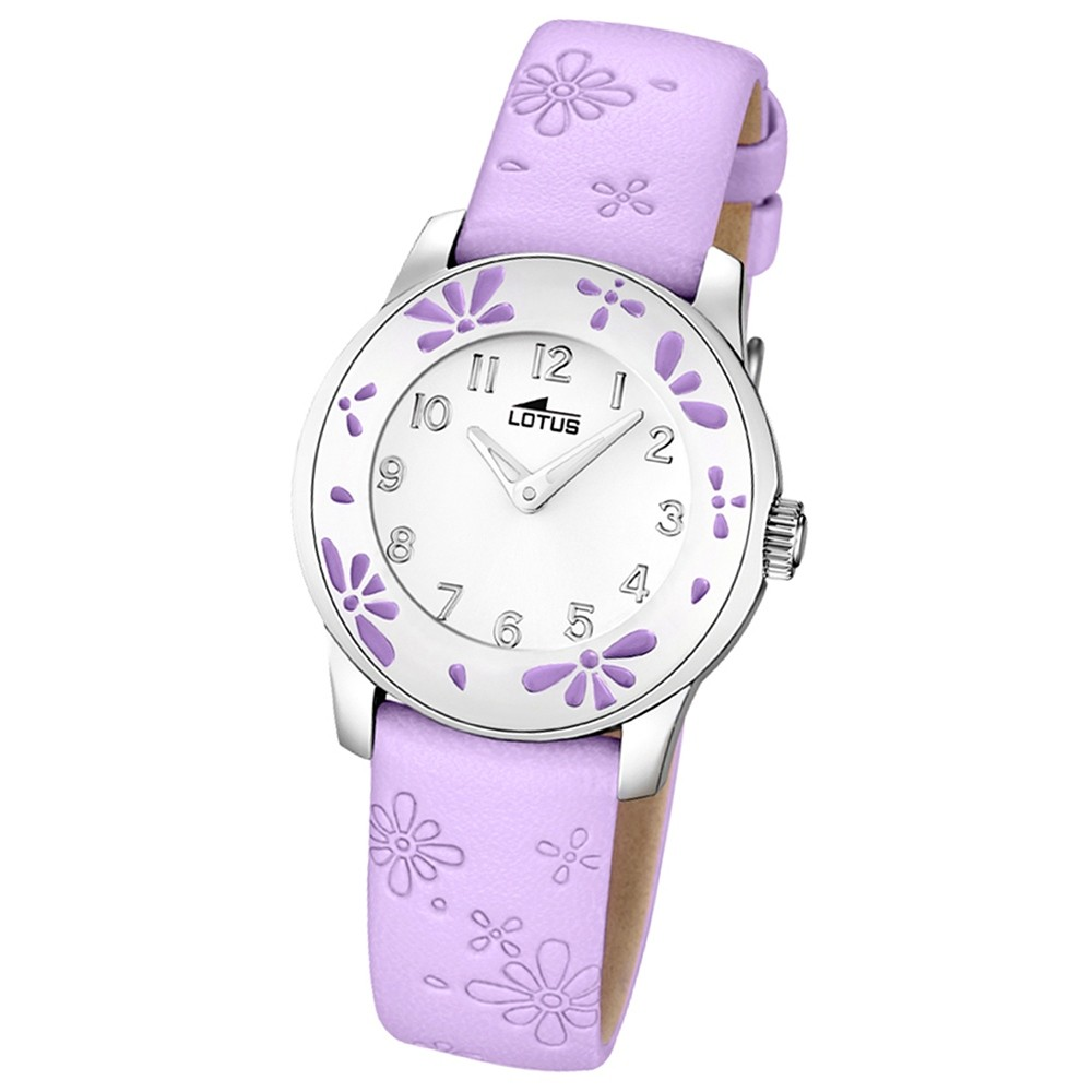 LOTUS Jugenduhr Comuniones Analog Quarz Uhr Leder Armband pink UL15950/3