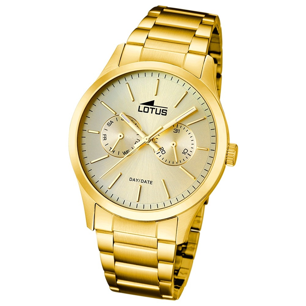 LOTUS Multifunktionsuhr Herrenuhr vergoldet Minimalist Uhren UL15955/2