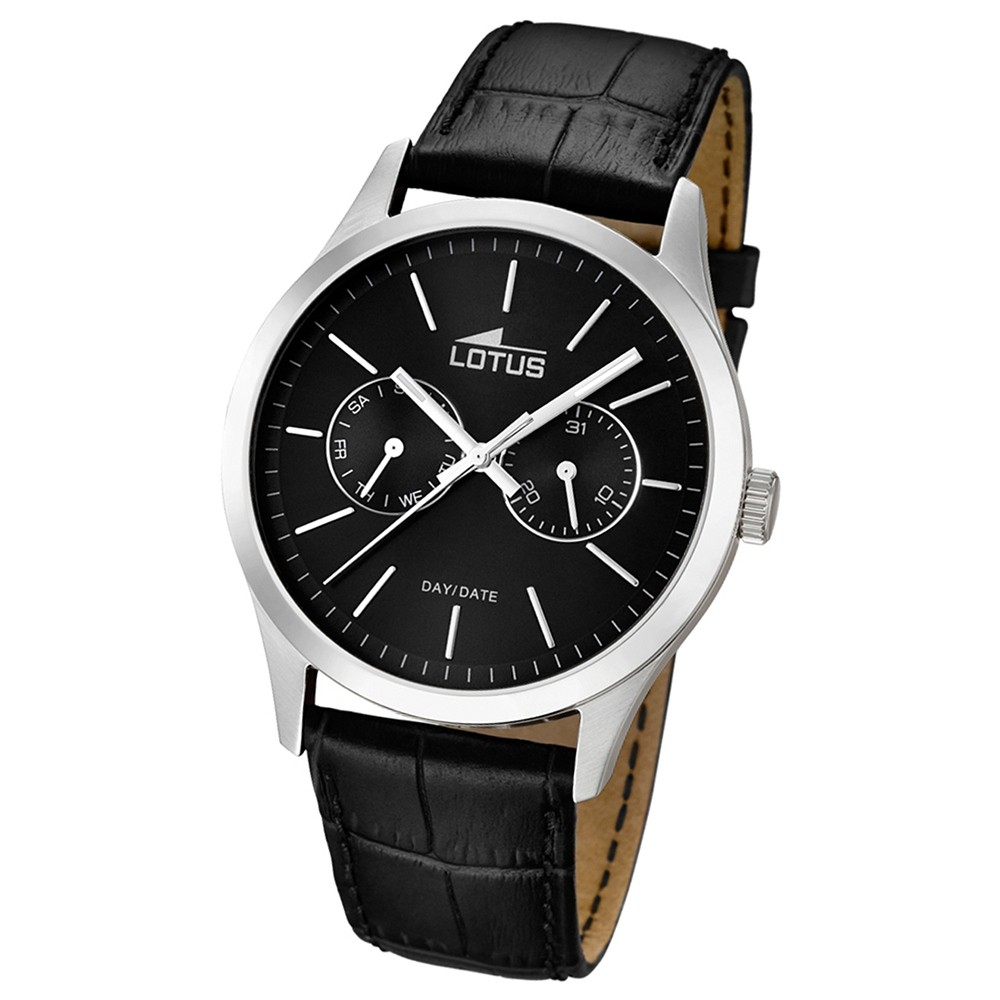 LOTUS Herren-Armbanduhr Minimalist analog Quarz Leder UL15956/3