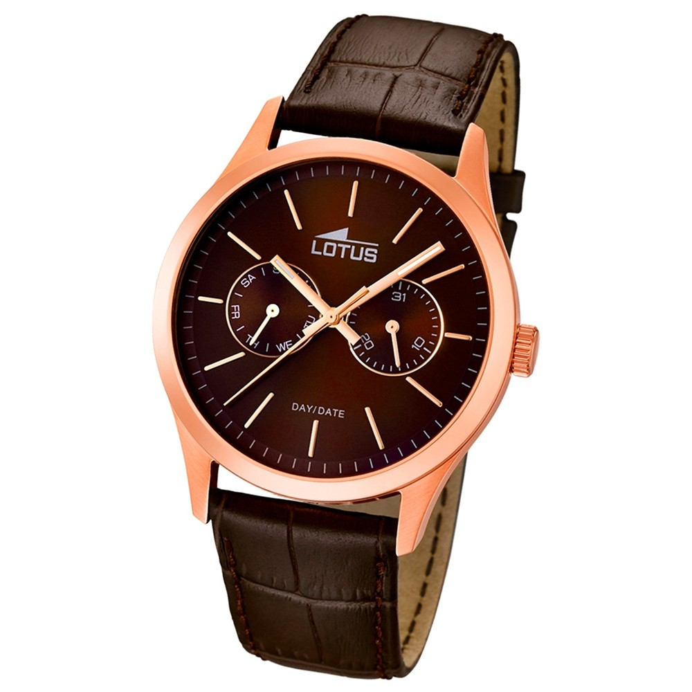 LOTUS Herren-Armbanduhr Minimalist analog Quarz Leder UL15958/2