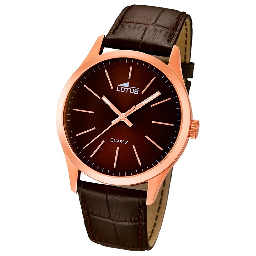 LOTUS Herren-Armbanduhr Minimalist analog Quarz Leder UL15963/2