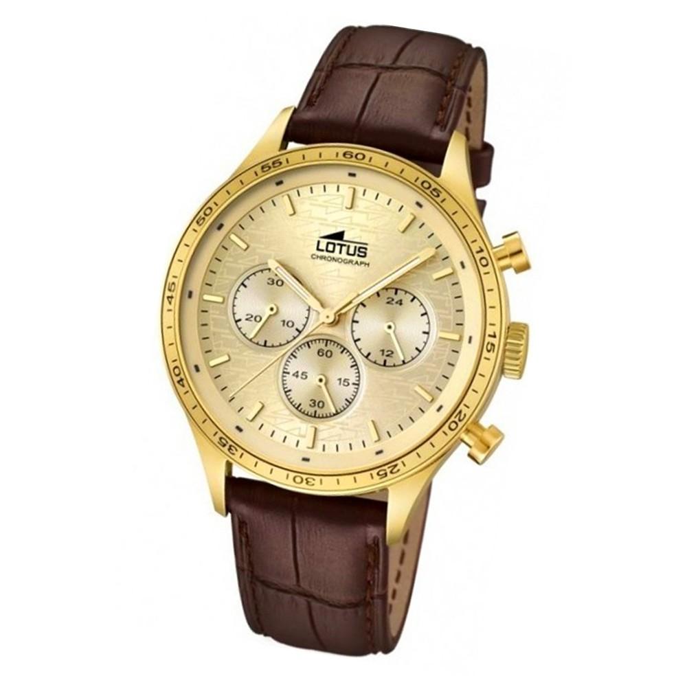 LOTUS Herren-Armbanduhr Minimalist analog Quarz Leder UL15965/2