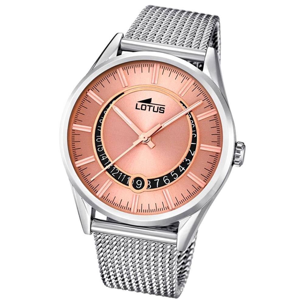 LOTUS Damenuhr Minimalist Analog Quarz Uhr Edelstahl Armband silber UL15975/3