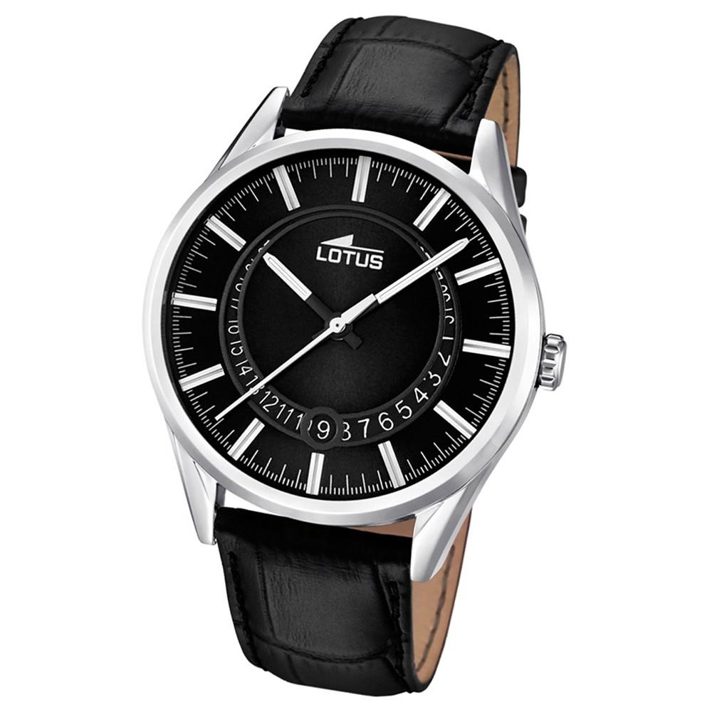 LOTUS Herren-Armbanduhr Minimalist Analog Quarz Leder schwarz UL15978/2