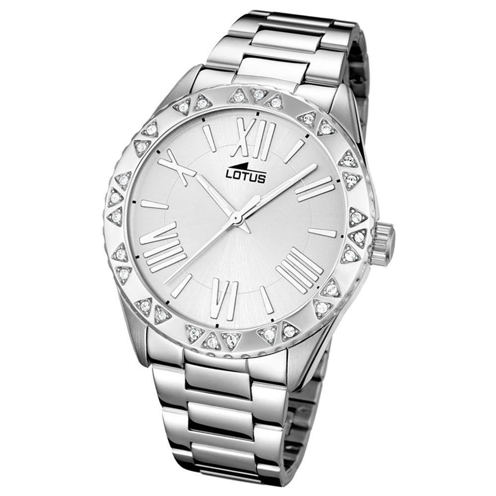 LOTUS Damen-Armbanduhr Trendy Analog Quarz-Uhr Edelstahl silber UL15991/1