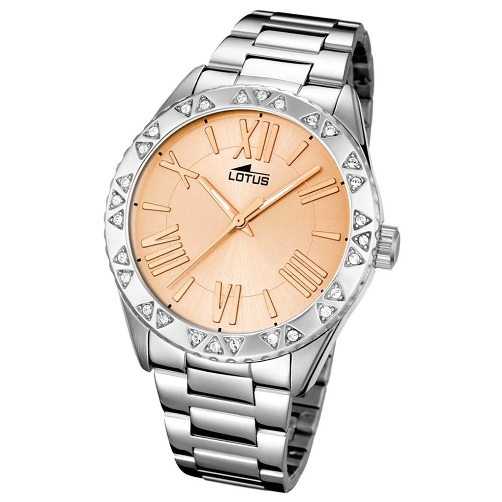 LOTUS Damen-Armbanduhr Trendy Analog Quarz-Uhr Edelstahl silber UL15991/2