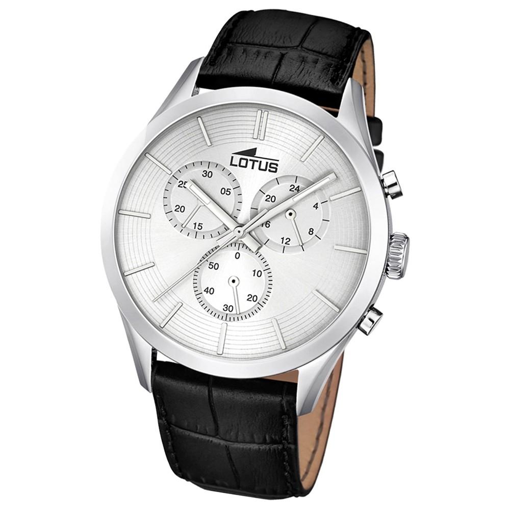 LOTUS Herren-Uhr - Minimalist - Analog - Quarz - Leder - UL18119/1