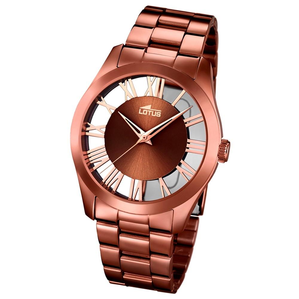 LOTUS Damen-Uhr - Minimalist - Analog - Quarz - Edelstahl - UL18125/1