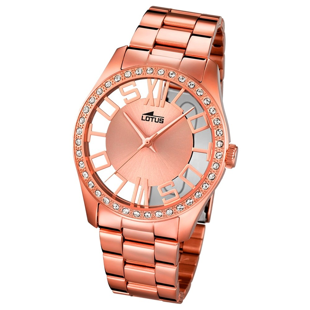 LOTUS Damen-Uhr - Woman/Trendy/Lady - Analog - Quarz - Edelstahl - UL18128/1