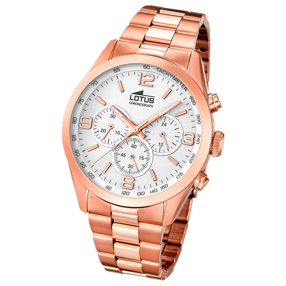 LOTUS Herren-Uhr - Minimalist - Analog - Quarz - Edelstahl Klassik Uhr UL18154/1