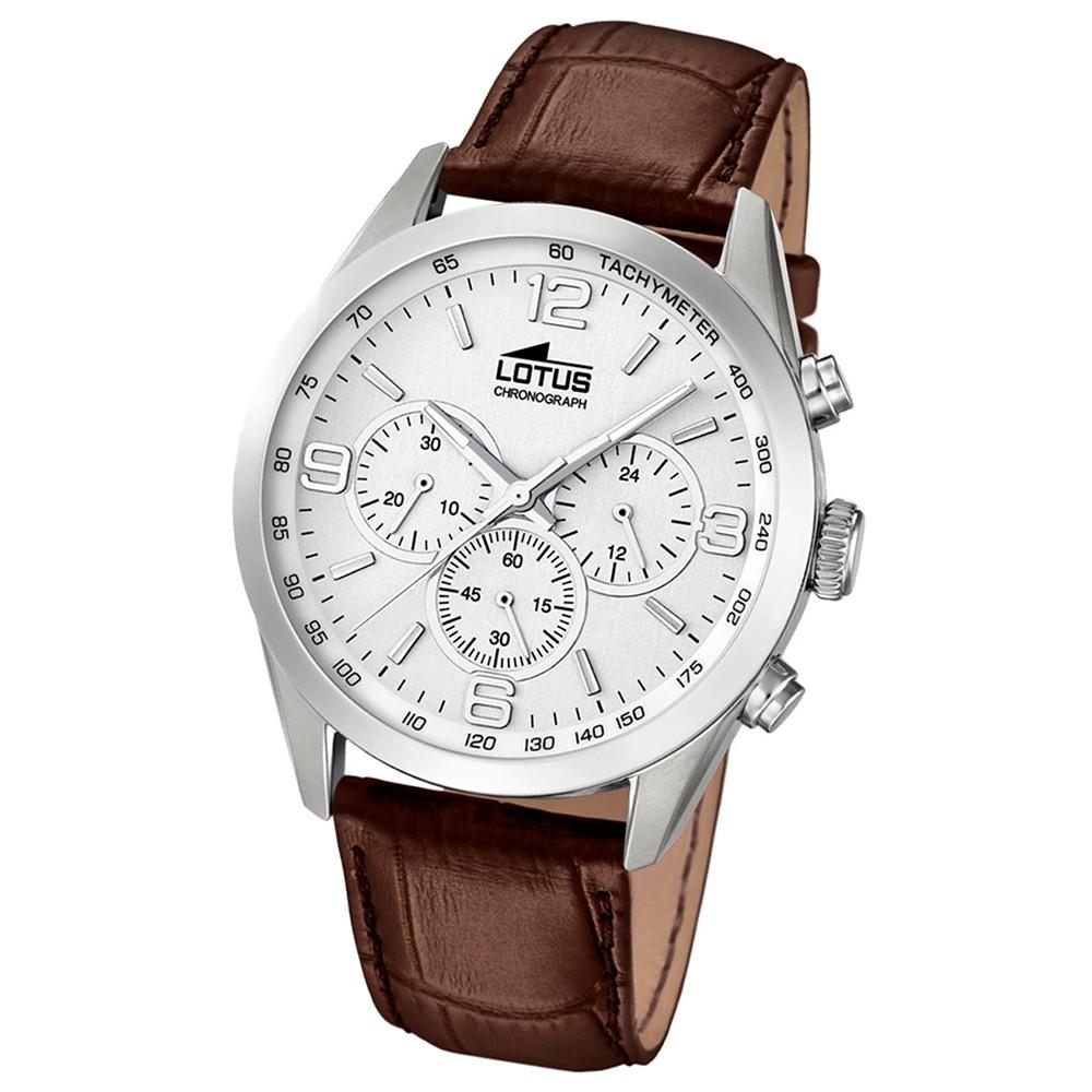 LOTUS Herren-Uhr - Minimalist - Analog - Quarz - Leder Klassik Uhr UL18155/1